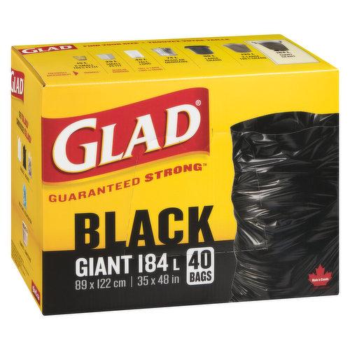 40 Giant Bags, 178L. 88.9cm x 1.21m. 35in x 48in.