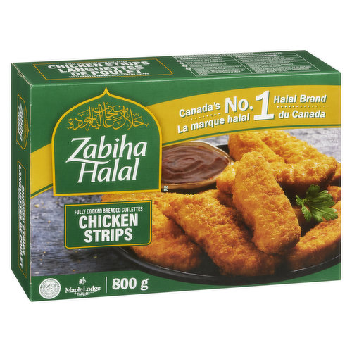 Lunch, dinner, snack or side, dipped in sauce, on their own or in a wrap, Zabiha Halals Chicken Breast Strips are always delicious! Breaded & seasoned just how you like them.