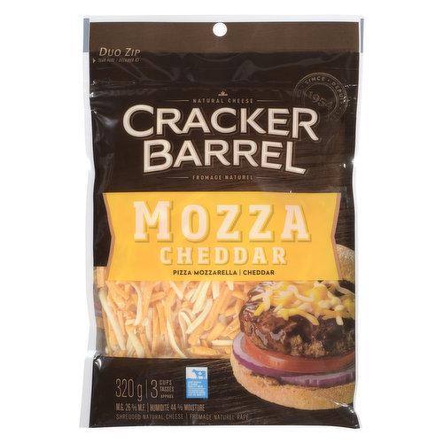 Pizza mozzarella and cheddar.