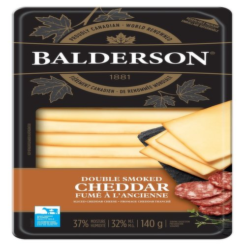 Smooth, smokey taste that permeates through the cheddar. Darker exterior has more intensified wood smoke flavour. Cold Smoked twice using a mixture of natural hard woods.