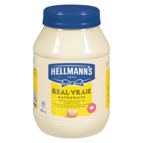 Rich & creamy, made with Canadian free-run eggs & responsibly-sourced Canadian canola oil. No trans fat, low in saturated fat & cholesterol. Great in sandwiches.