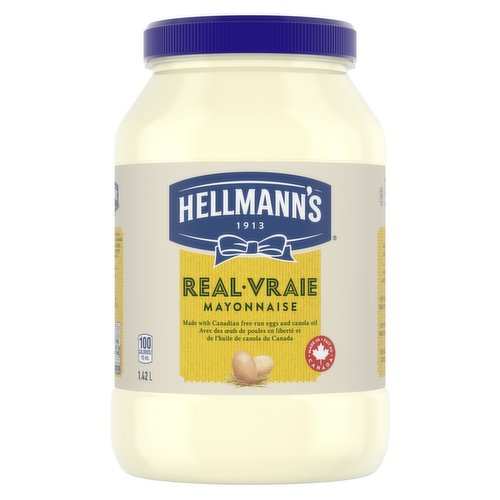 Rich & creamy, made with Canadian free-run eggs & responsibly-sourced Canadian canola oil. No trans fat, low in saturated fat & cholesterol. Great in sandwiches & dips.