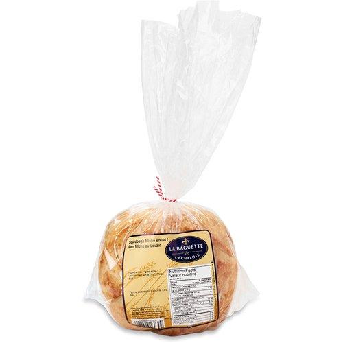 1 round loaf of sliced Sourdough Miche bread.