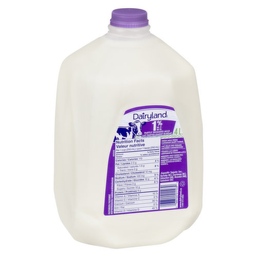 1% Milk Partly Skimmed - Save On Foods Reserves the Right to Limit Quantities