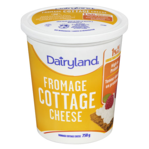50% Less Fat Than Dairyland Regular Cottage Cheese. High in Protein.