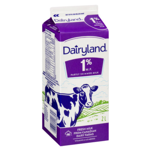 1% Milk Partly Skimmed An Excellent Source of Calcium - Save On Foods Reserves the Right to Limit Quantities