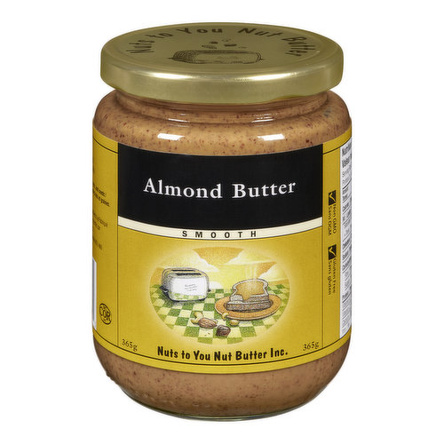 Nuts to You Smooth Almond Butter is made with nothing but dry-roasted almonds. Yummy!
