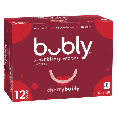 Natural Sparkling water with the crisp and refreshing cherry flavour.12x355ml