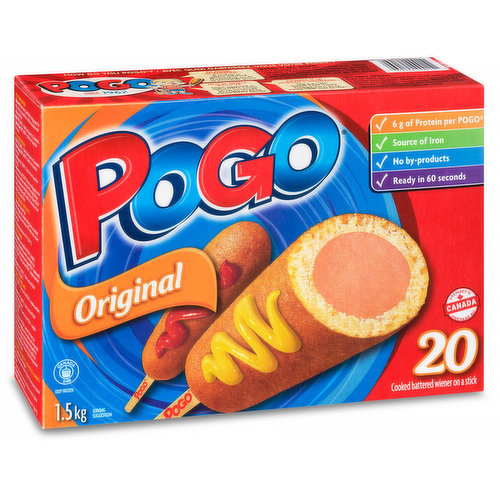 6g of Protein per POGO. Ready in 60 Seconds!