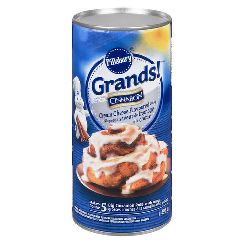 With Cream Cheese Flavoured IcingMakes 5 Big Cinnamon Buns