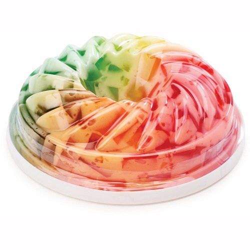 This Rainbow Parfait is a tasty and colorful parfait dessert that blends gelatin with a rich whipped topping. The ring mold container allows you to flip it over and place it on a plate for a decorative presentation.