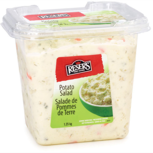 Mildred Resers original recipe from 1950, this best-selling potato salad is a simply delicious blend of diced Russets, chopped celery and onions, with crisp sweet pickles in our classic mayonaisse.