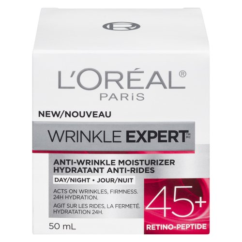 Our effective formula for ages 45+ with Retino-Peptide, a moisture-bidding and wrinkles-fighting ingredient, effectively works to visibly reduce the signs of aging in just 4 weeks.