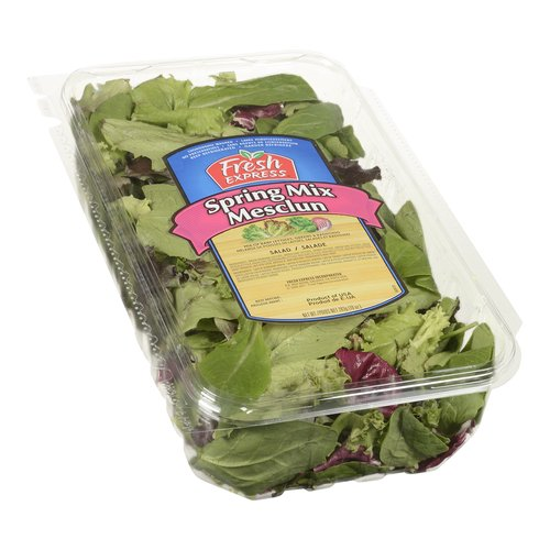 Mix of baby lettuces, greens & radicchio. Thoroughly washed. No preservatives. Ready to eat.