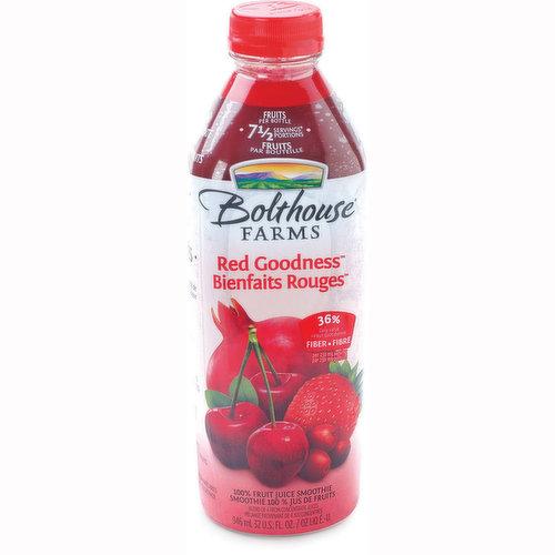 100% Fruit Juice Smoothie. 7.5 Fruit Servings . 36% Fibre.