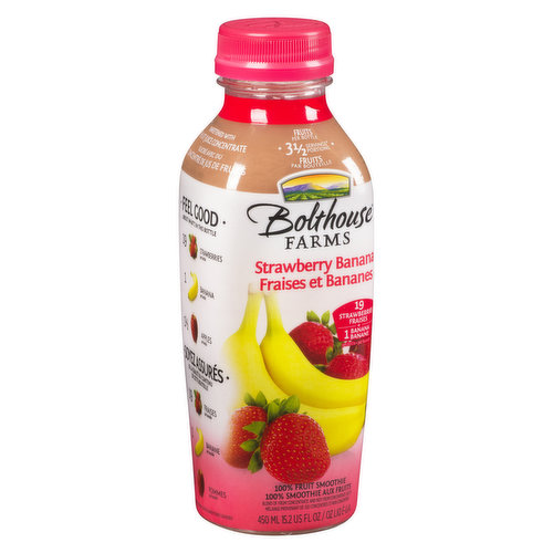 Fruit Smoothie with Apple Juice from Concentrate. 3.25 Servings of Fruit per Bottle