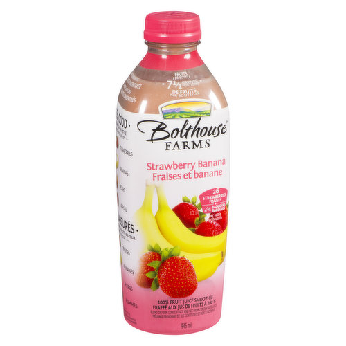 Fruit Smoothie with Apple Juice from Concentrate. 7.5 Servings of Fruit per Bottle