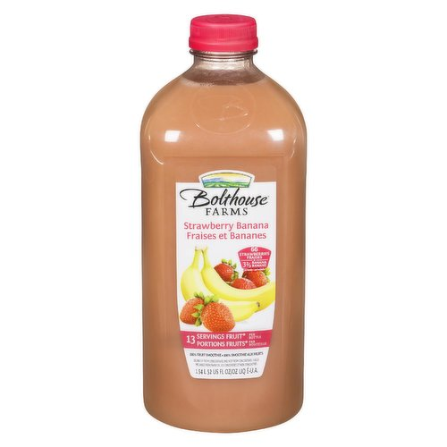 Fruit Smoothie with Apple Juice from Concentrate. 12 Servings of Fruits Per Bottle.
