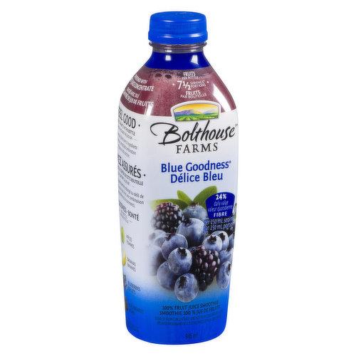 100% Fruit Smoothie. 7.5 Fruits Servings Portions. 32% Daily Value Fibre per 250ml Serving.