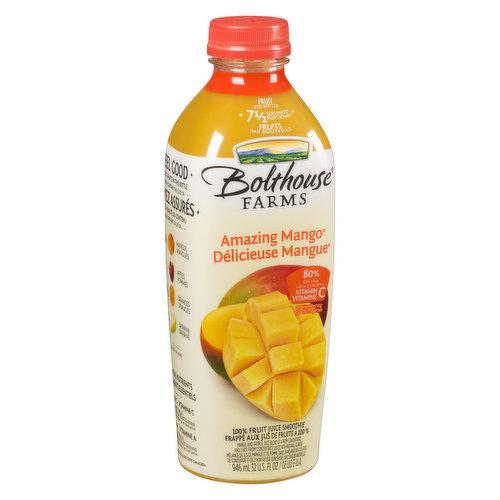 100% Fruit Smoothie. 7.5 Servings of Fruit per Bottle
