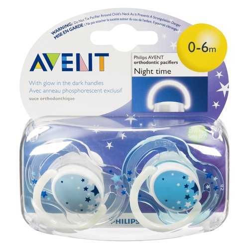 With glow in the dark handle. Find glowing handle more easily at bedtime. 9 out of 10 babies accept our pacifiers. Orthodontic & BPA-Free.
