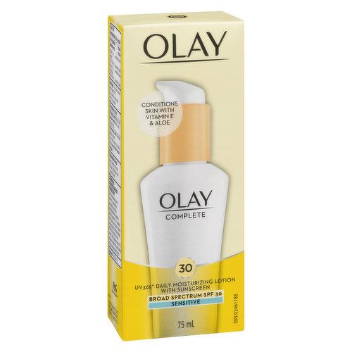For Sensitive Skin with Vitamins E, B3 & Pro-Vitamin B5. Oil-Free Lotion.
