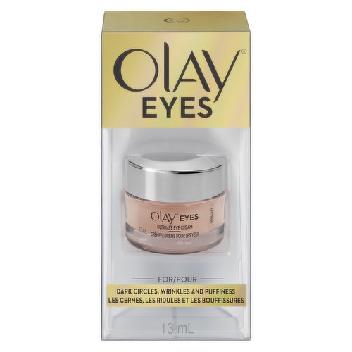 For dark circles, wrinkles and puffiness.  Instantly reduces the appearance of fine lines and wrinkles. Contains color-correcting technology acts as a touch of concealer. Blends with all skin tones.