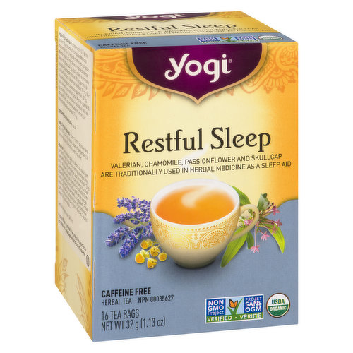Contains 98% Organic Ingredients. Valerian, Chamomile, Passionflower and Skullcap. Traditional Herbs used as Sleep Aid.