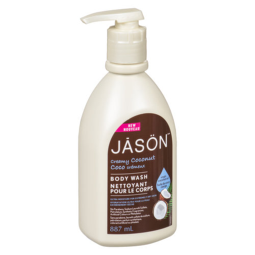 Creamy, super moisturising wash with less focus on suds with a coconut fragrance. Helps eliminate dry, flaky skin.