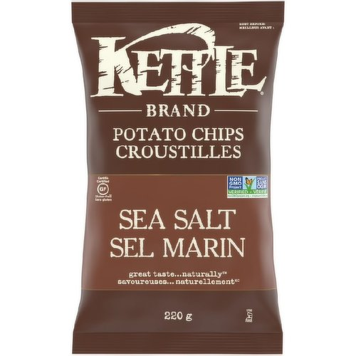 Great Taste.. Naturally. Kettle Chips Sea Salt Gluten Free Potato Chips. Gluten Free Potato Chips with a Touch of Sea Salt.Trans Fat, Lactose, and Cholesterol Free.