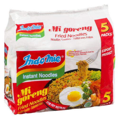 Stir Fry Noodles. 5 x 85g packs. Use as a stir fry and soup base. Largest well known instant noodle brand in Asia.