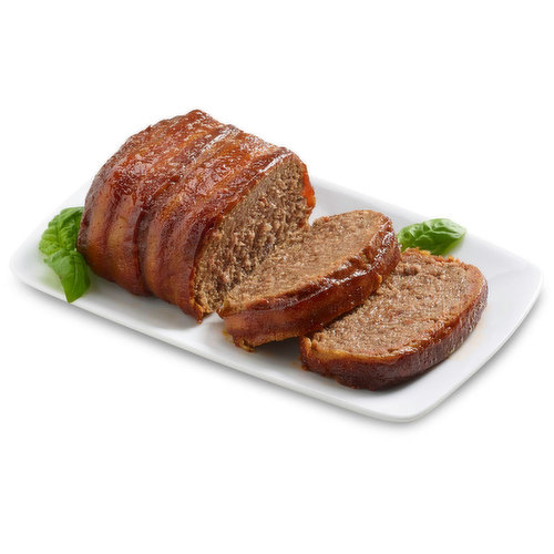 A new take on a traditional favourite. This Bacon Wrapped Meatloaf is enhanced with the smooth warm flavour of Kentucky Bourbon Barbeque Sauce.<br />