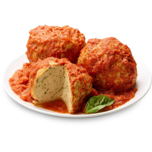 A new and healthy approach on your favourite meatball; Now in Jumbo Size with Marinara Sauce. To be enjoyed as a family or individually.