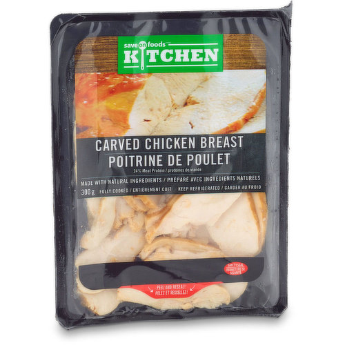 Fully cooked, made with natural ingredients. 24% meat protein,