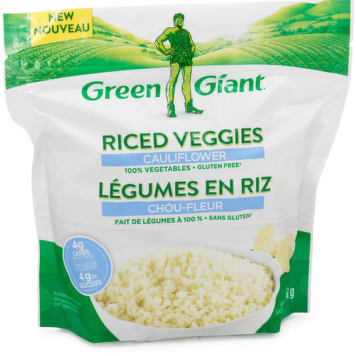 100% Riced cauliflower, no fillers. Can be enjoyed on its own or in your favorite recipes. 85% fewer calories than rice! Gluten Free.