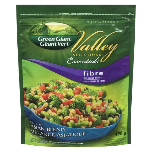 Exclusive blend of broccoli florets, edamame, black beans, red bell peppers and barley lightly flavoured with Asian seasoning. This delicious side dish is also a high source of fibre!