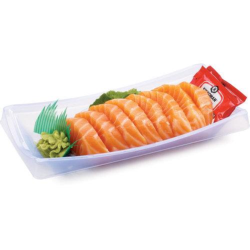 Fresh amd delicious salmon sashimi.