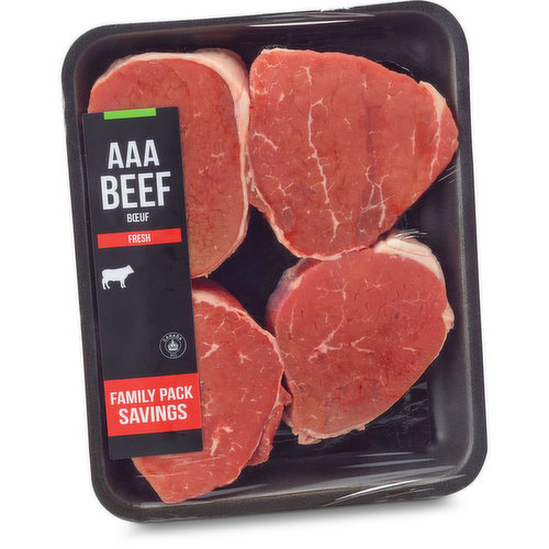 4 Portions Per Package. AAA Beef Grain Fed. Random Weighted Items May Vary by Package.