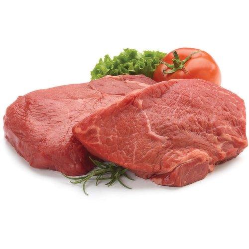 Fresh Top Sirloin Steak. Average weight of each steak may vary.