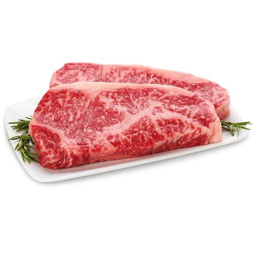 Tajima Wagyu Beef. Striploin Steak Marble Count 6-7. Average weight per package, 300 Gram