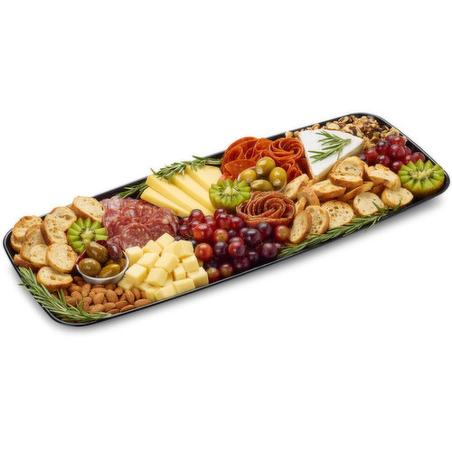 48 hour Prep Time Required for Party Platters. Limit 10 Per Order. Prosciutto Wrapped Cantaloupe, Genoa Salami, Cacciatore, Artichokes, Feta Stuffed Jalapenos, Olives, Sliced Tomato.