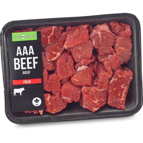 AAA Beef. Grain Fed. Average Weight of Each Package May Vary.
