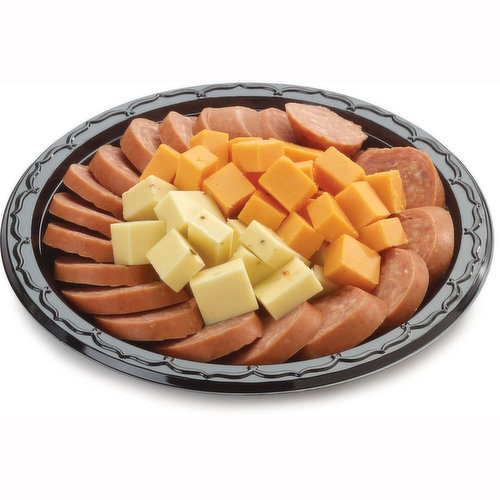48 hour Prep Time Required for Party Platters. Limit 10 Per Order. Bite Size Savoury Snacks of Cubes of Havarti & Cheddar Cheese and Sliced Garlic Coil. Serves 1-2 People.