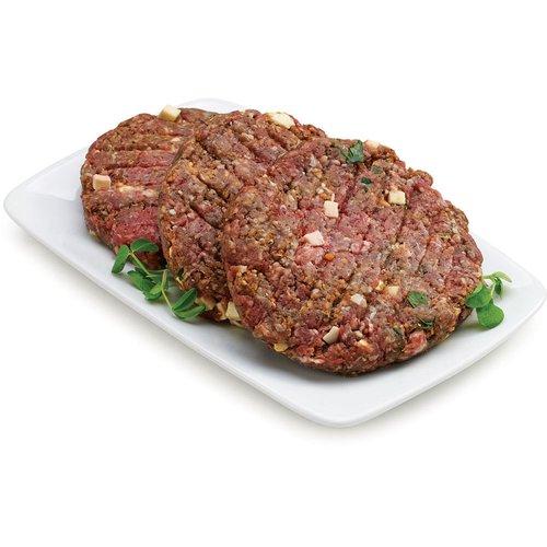 Tuscan Beef Patties. Average weight per package, 170 Gram