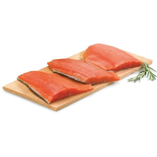 Ocean wise Wild sockeye salmon is rich in texture and high in flavor with a dark red flesh, containing high amounts of omega 3's.