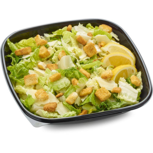 Each packaged salad price may vary due to avg weight of each salad pack. Fresh from our Deli Department. With crisp romaine, crunchy croutons & sharp Parmesan. Includes 3/43ml caesar dressings.