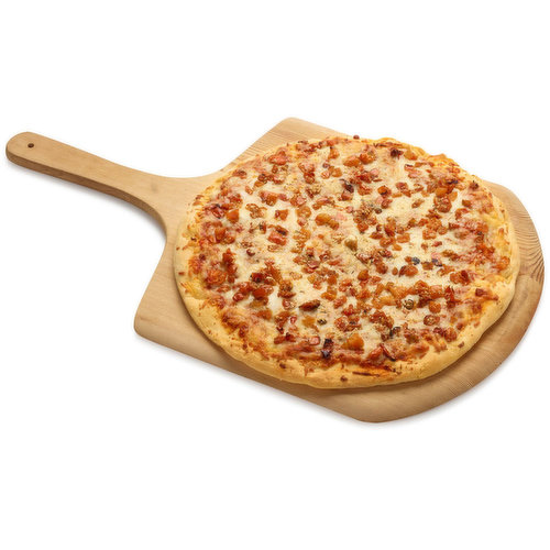 Neapolitan pizza with fresh mozzarella and tomato.