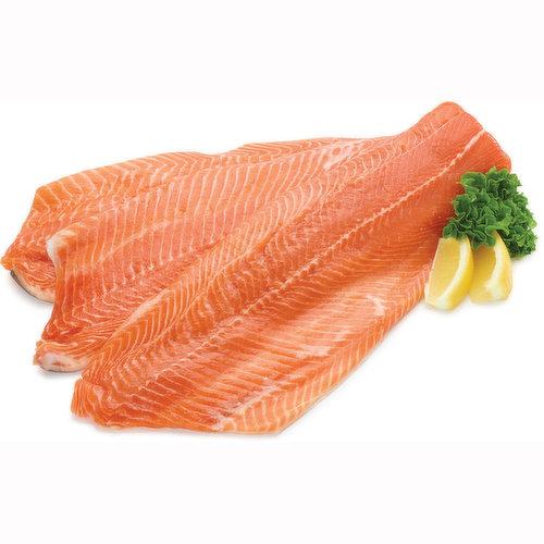 Ocean Wise. Orange Flesh like Salmon, Milder Flavour Cross  Between Salmon & Trout. Average Weight of each Fillet is Approx 454g.