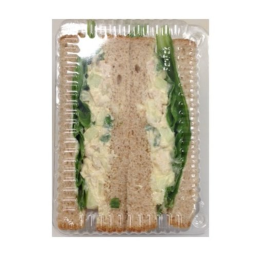 Mayonnaisse, Dijon Mustard, Rotisserie Chicken, diced celery, onion, apple. Bread May Vary from white to brown by availablity. Please indicate in your notes if your have a preference.