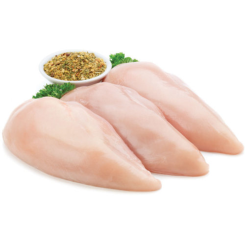 Tray Pack Approx. 2-3 Breast Per Pack. Chicken Raised on Family Farms. Western Canadian.  Average Weight of Each Package May Vary.